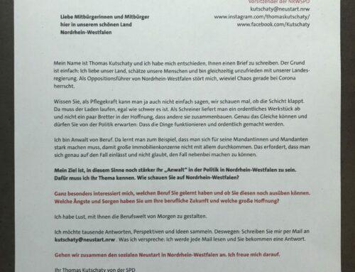 Thomas Kutschaty freut sich auf Ihre Antwort – schreiben Sie per Mail an kutschaty@neustart.nrw